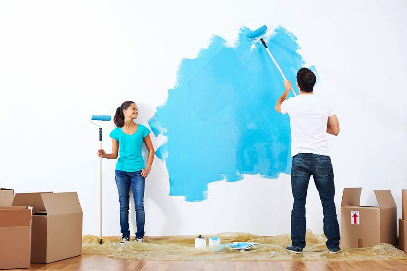 Repaint house to sell your home.